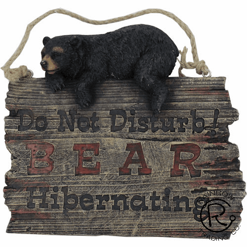 Do Not Disturb Bear Hybernating Sign