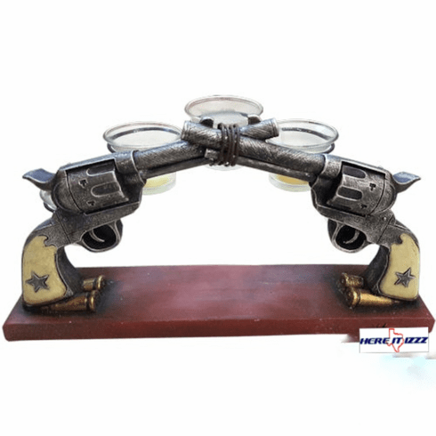 Double Pistols Five Candle Holder