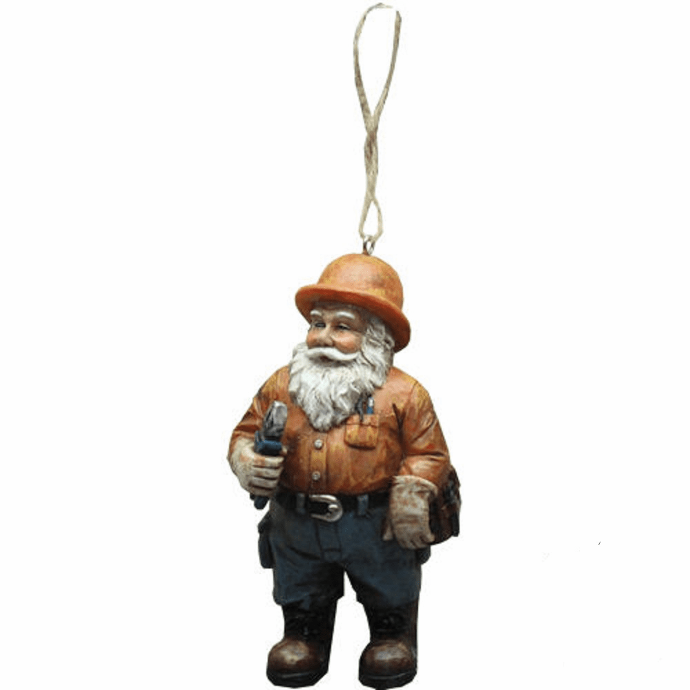 Electrician Lineman Santa Claus Holiday Decoration