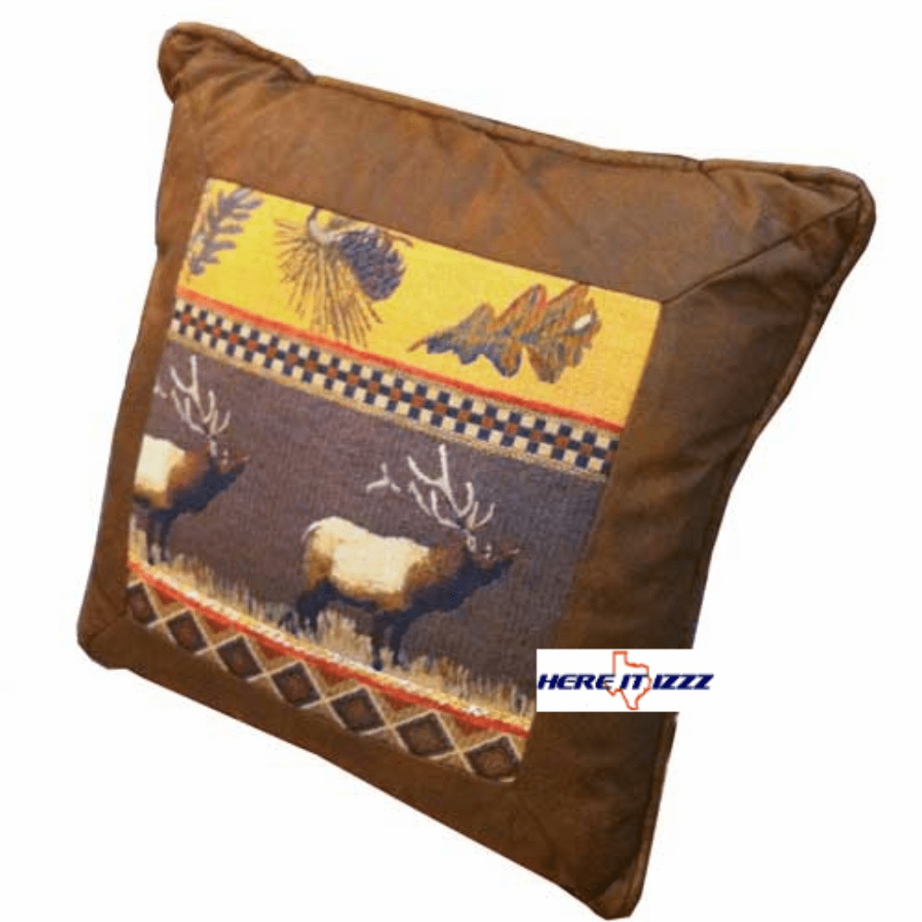 Elk Cabin Pillow