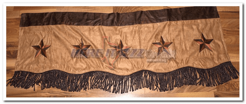 Embroidered  Dark Star Valance
