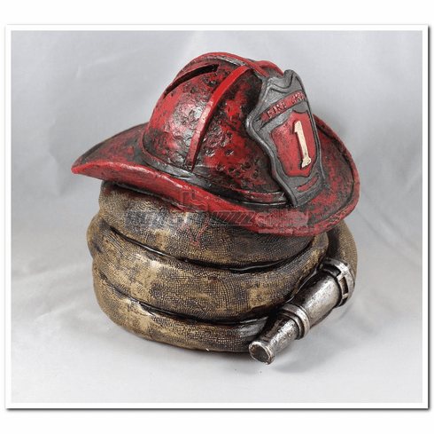 Fire Helmet Coin Bank