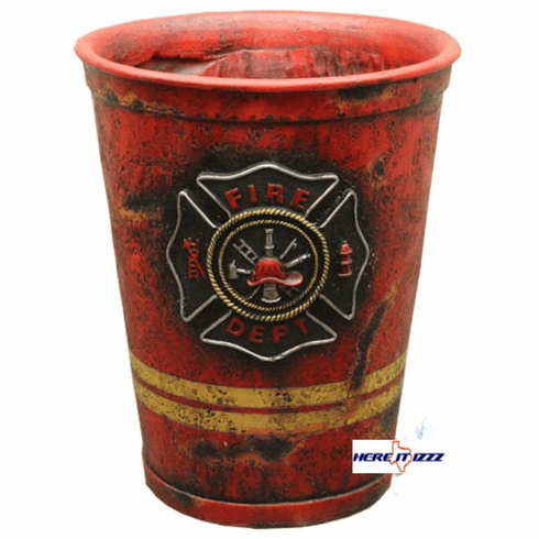 Firefighter Bathroom Wastebasket
