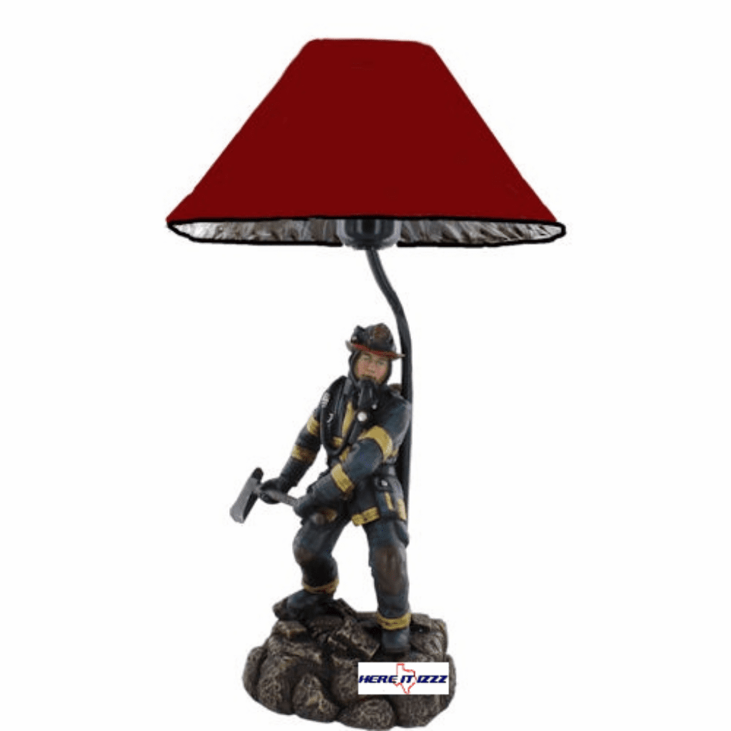 Firefighter with Axe Lamp