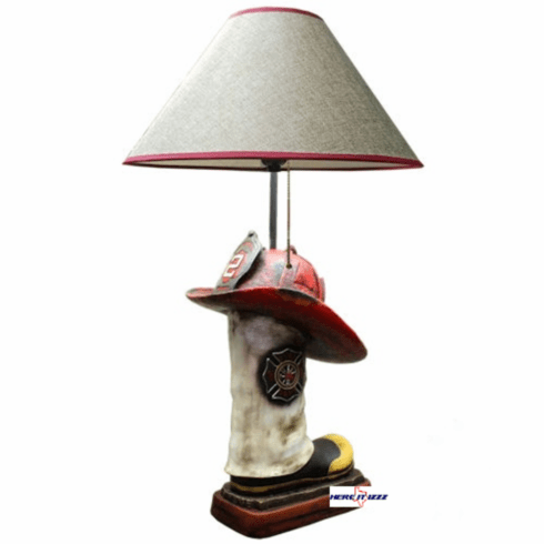 Fireman Helmet Boot Lamp