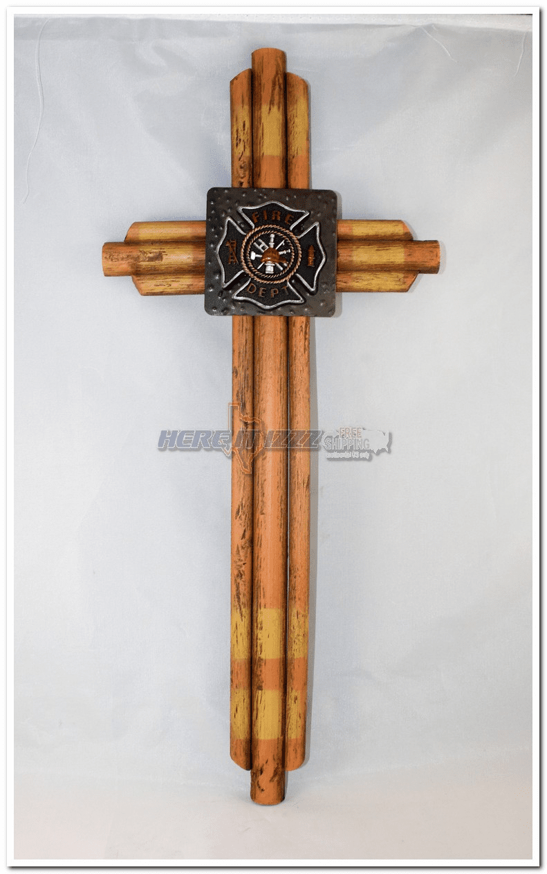 Fireman Maltese Wooden Wall Cross