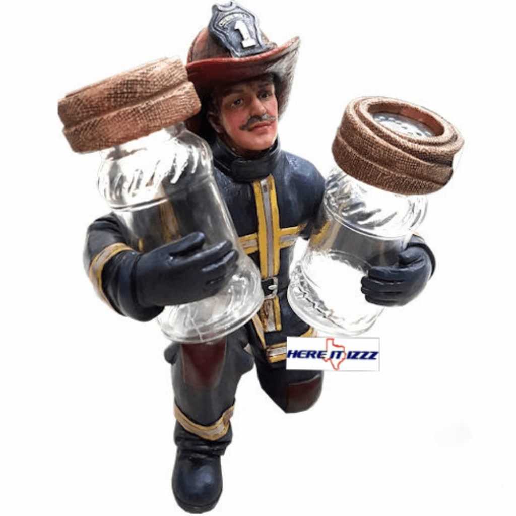 Fireman Salt and Pepper Holder