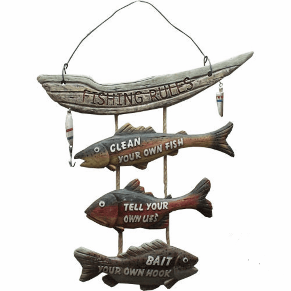 Fishing Rules Wall Sign