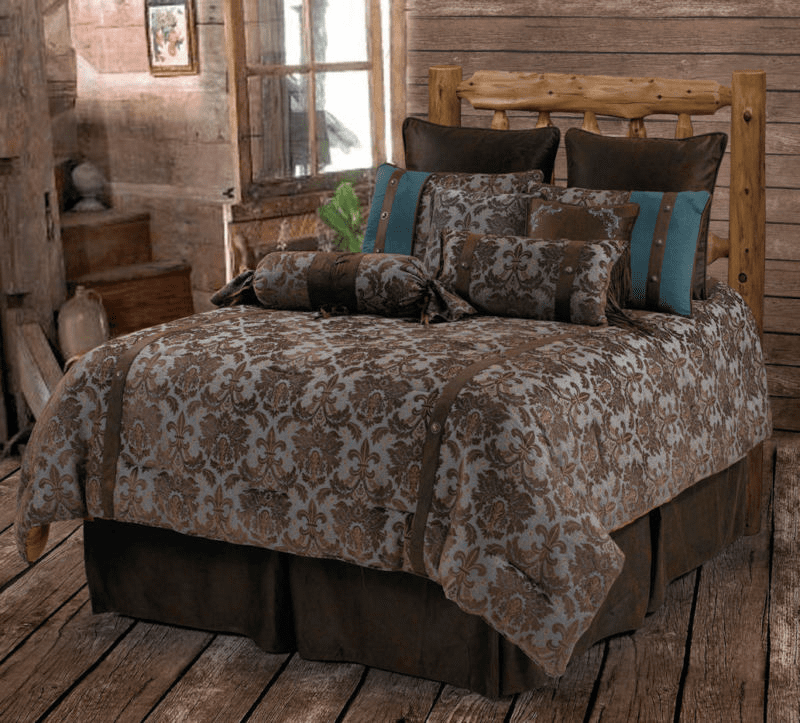 Fleur-De-Lis  Bedding Set Queen