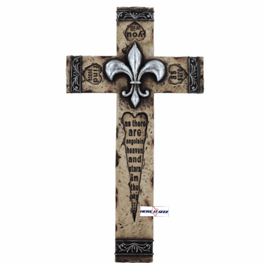 Fleur De Lis Inspirational Wall Cross