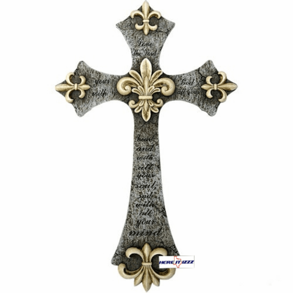 Fleur De Lis Love the Lord Cross