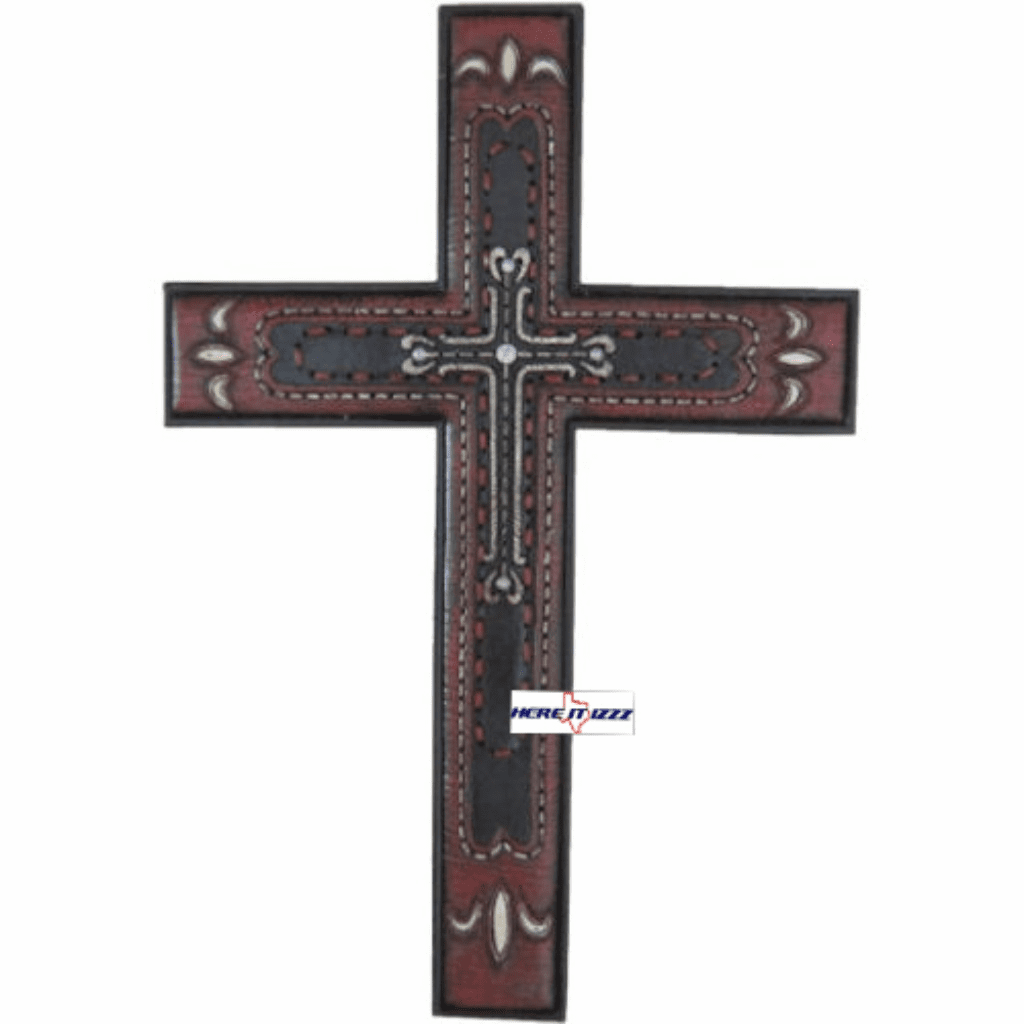 Fleur De Lis Red Wall Cross