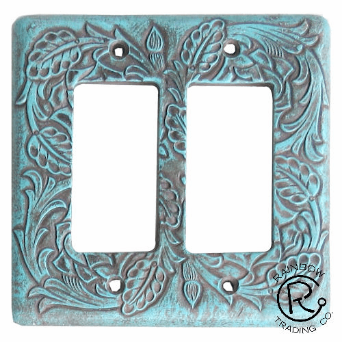 Floral Turquoise Double Rocker