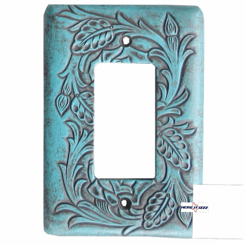 Floral Turquoise Single Rocker