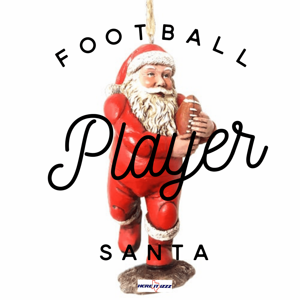Football Player Santa Christmas Ornament