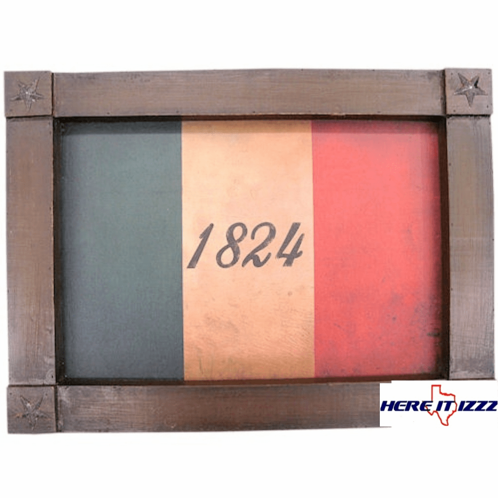 Framed1824 Flag of the Texas Revolution