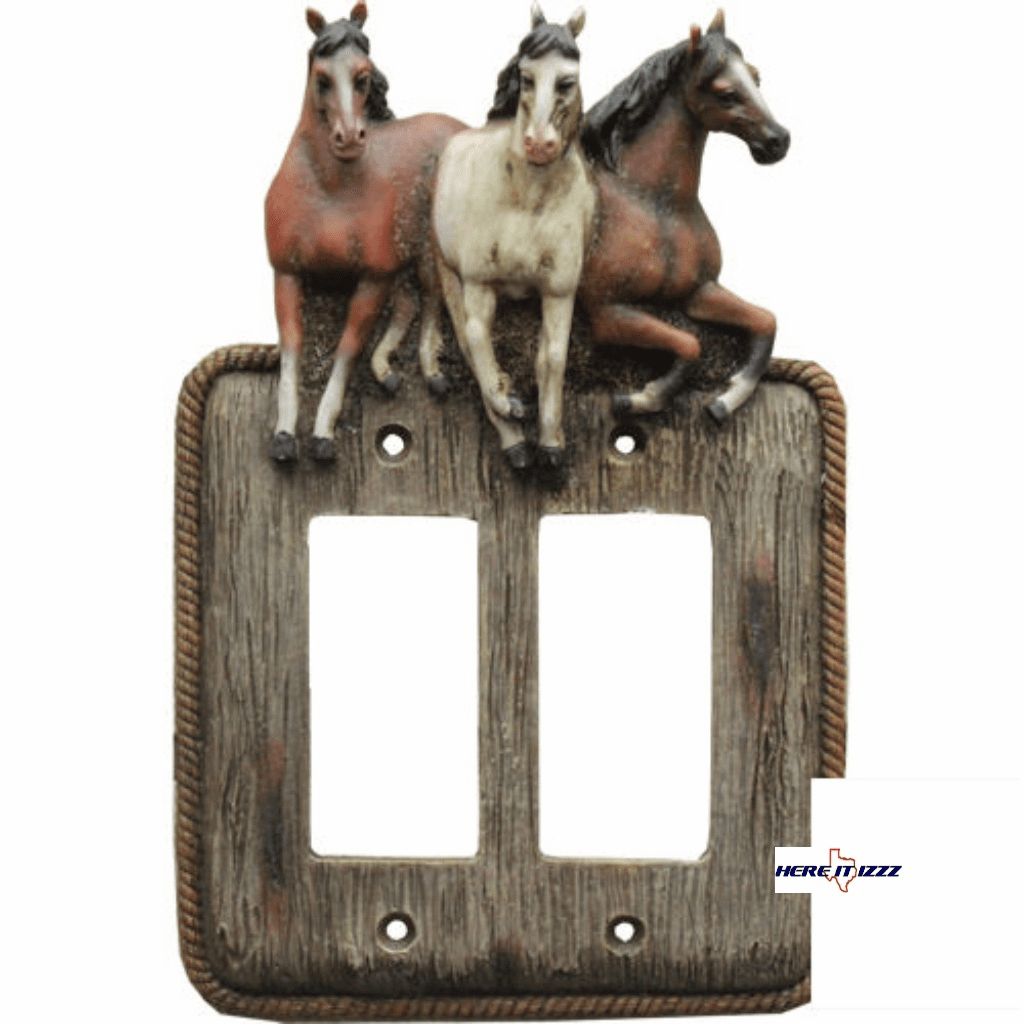 Galloping Horse Double Decora Rocker