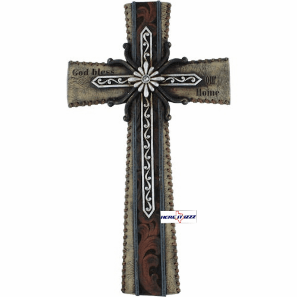 God Bless Our Home Cross