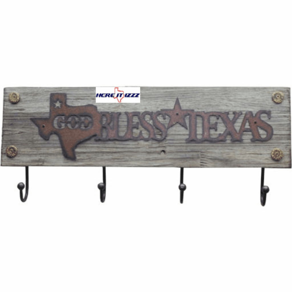 God Bless Texas Wall Coat Hook