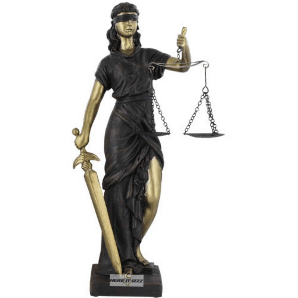 Goddess of Justice Lady Figurine Statue