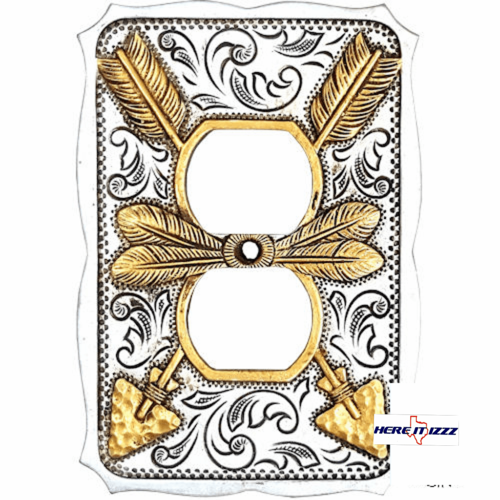 Gold and Silver Arrow Electrical Outlet Covers