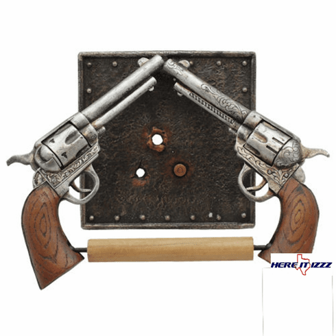 Gun Toilet Paper Holder