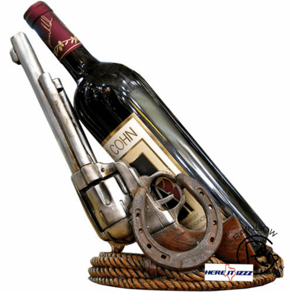 Gun Wine Bottle Holder