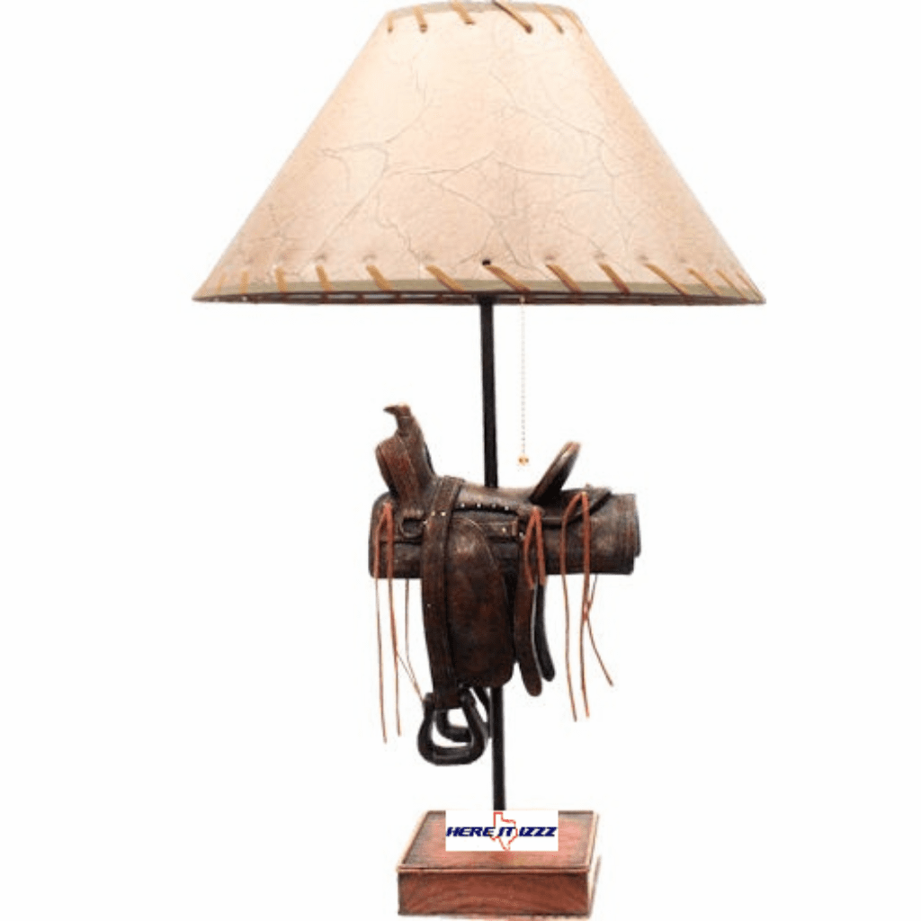 Horse Saddle Table Lamp
