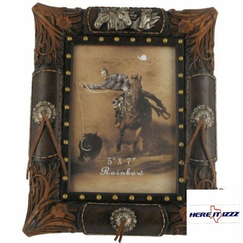 Horse Tooled Leather 5x7 Frame