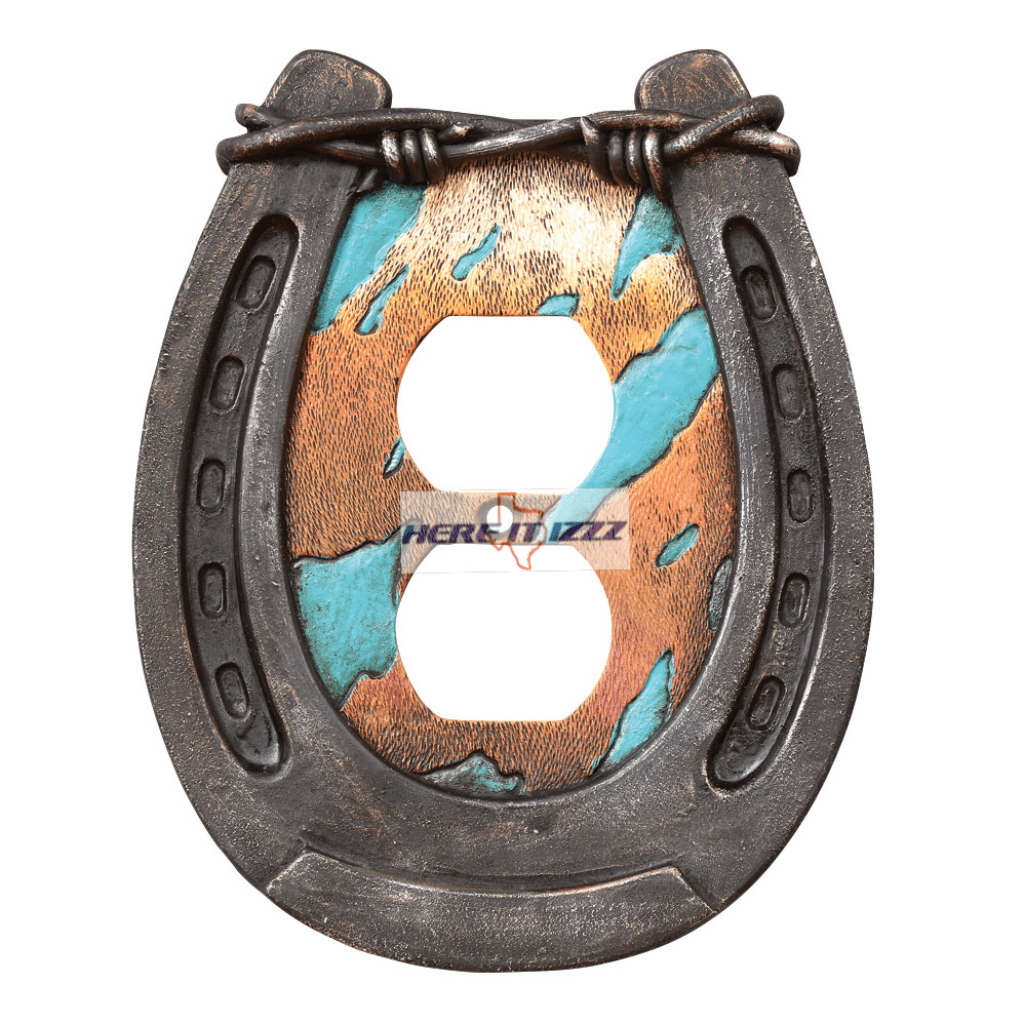 Horseshoe & Barbed Wire Outlet Plug Cover