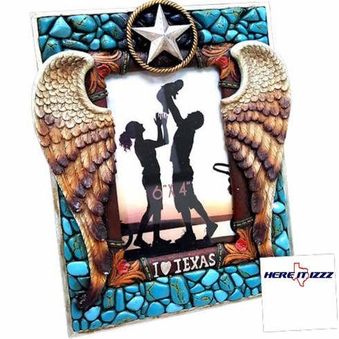I Love Texas Angel Wings 4x6 Frame