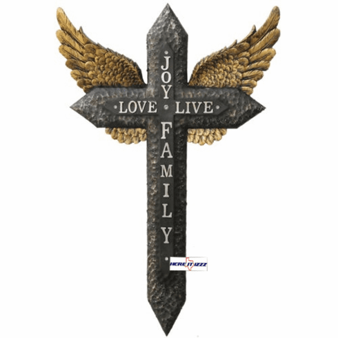 Joy Love Life Golden Wing Cross