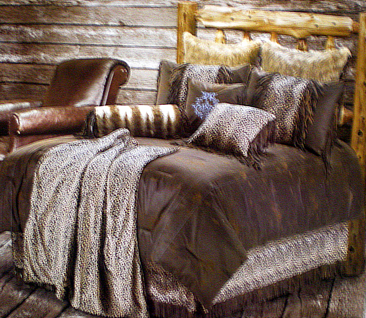 Leopard Print Western Bedding Set Full
