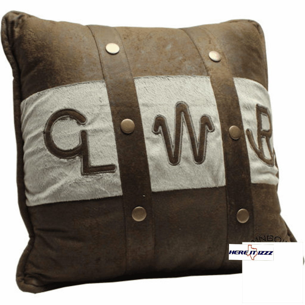 Livestock Cattle Brands Pillow
