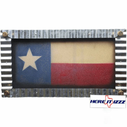 Lone Star Texas  Framed Flag