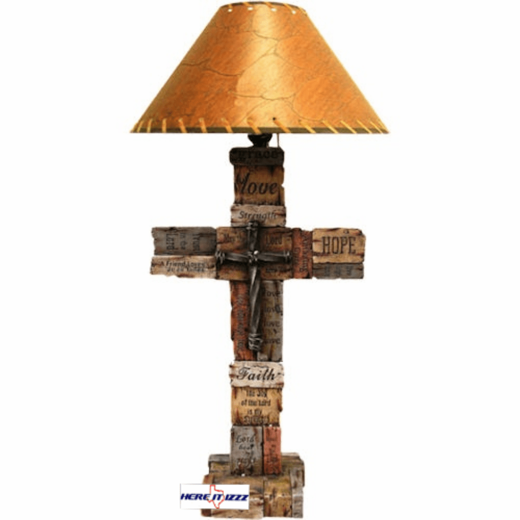 Love Hope Faith Cross Lamp