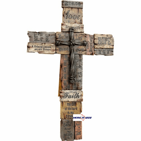 Love Hope Faith Wall Cross-large