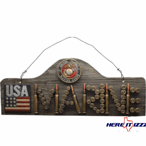 Marine Bullet Sign Plaque