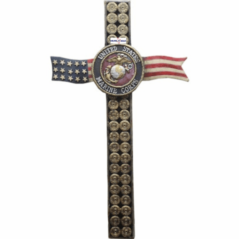 Marine Us Flag Bullet Cross
