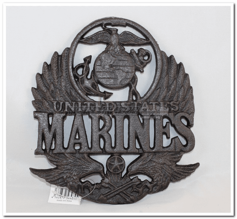 Marines Cast iron Trivet Plate