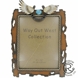 Metal Angel Wings 8 X 10 Photo Frame