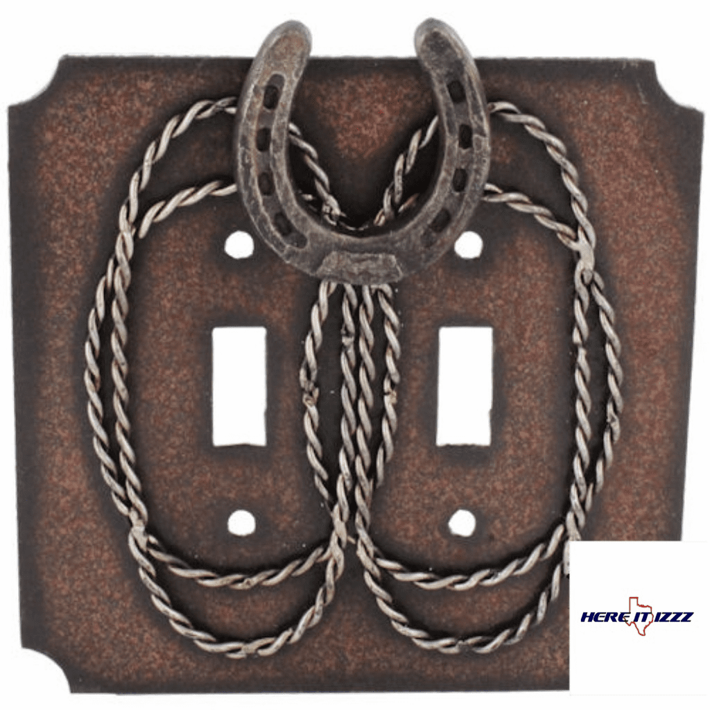 Metal Horseshoe & Barbwire Double Switch
