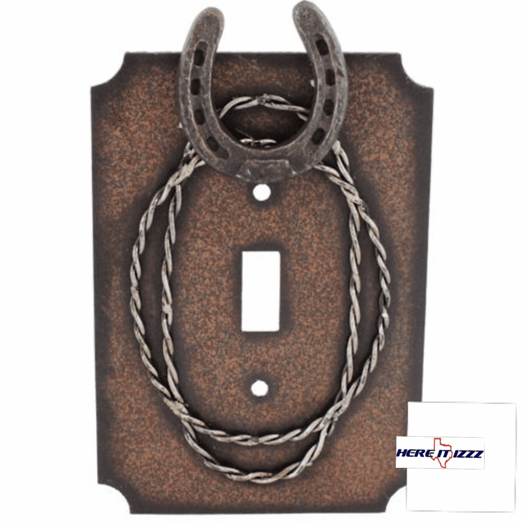 Metal Horseshoe & Barbwire Single Switch