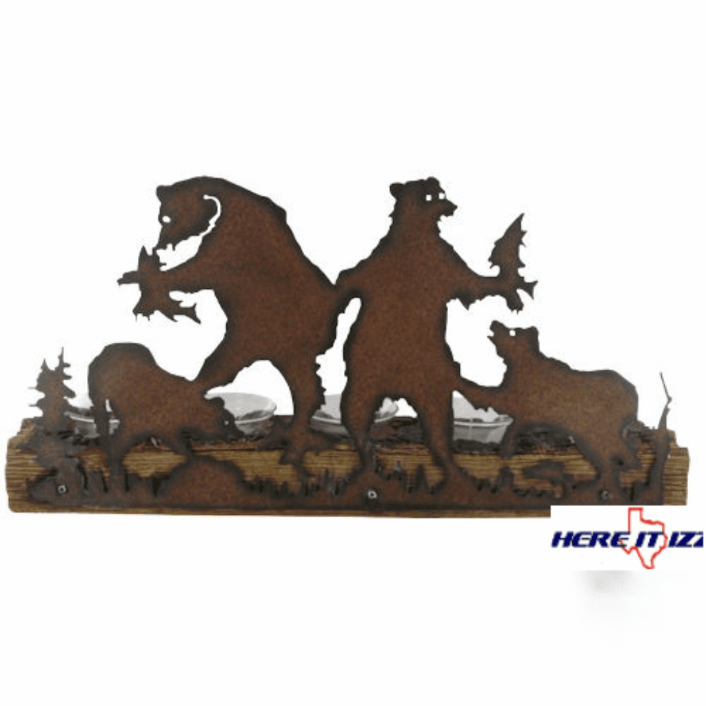 Mountain  Bear  Tea Light Holder