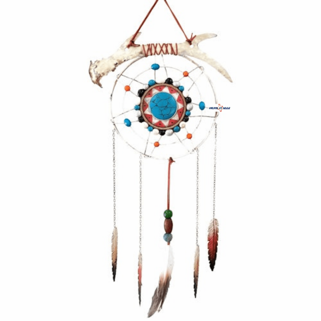 Native American Antler Dreamcatcher Wall Art