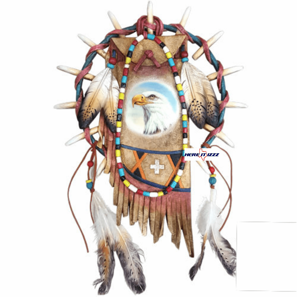 Native American Indian Eagle Dreamcatcher Wall Hanging