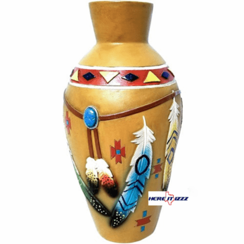 Native American Indian Flower Bud Vase
