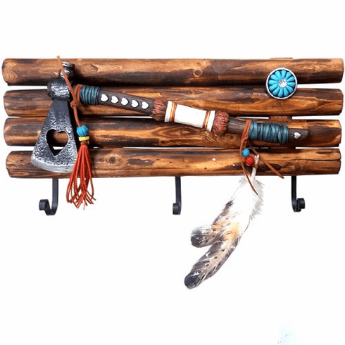 Native American Indian Tomahawk Coat Rack