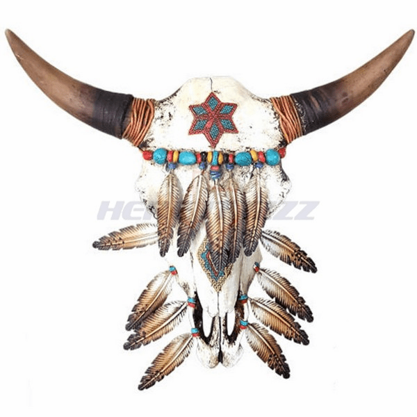 Native American Wall Mounted Skull