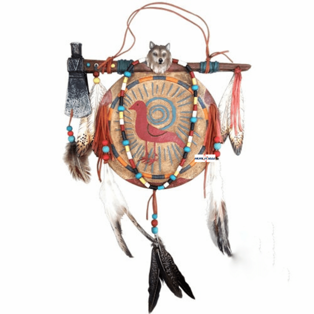 Native American Wolf Dreamcatcher Wall Art